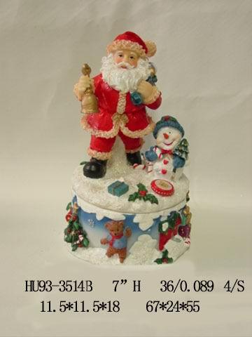 Christmas items, Santa, Snowman are made of polyresin